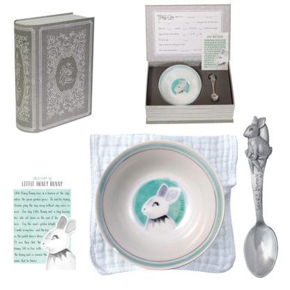 Salisbury Story of You Bowl and Spoon Set Bunny