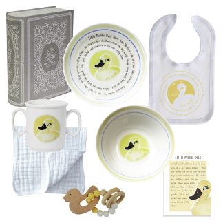 Salisbury Story of You Cup Plate Bowl Bib and Teether Set Little Duck