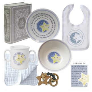 Salisbury Story of You Cup Plate Bowl Bib and Teether Set Little Star