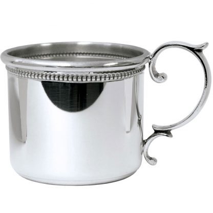 Salisbury Beaded Scroll Handle Straight Baby Cup