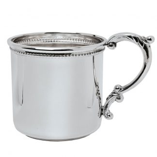 Salisbury Beaded Scroll Handle Baby Cup