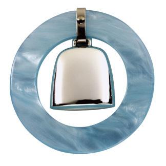 Salisbury Teething Ring Rattle - Blue