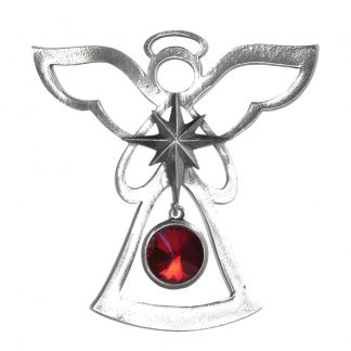 Salisbury Birthstone Angel Ornament January Garnet