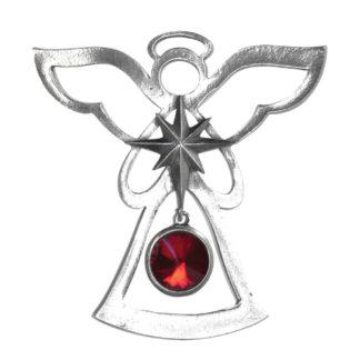 Salisbury Birthstone Angel Ornament January Garnet