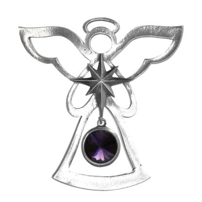 Salisbury Birthstone Angel Ornament February Amethyst
