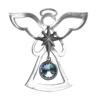 Salisbury Birthstone Angel Ornament March Aquamarine
