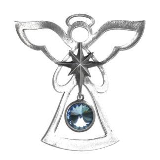 Salisbury Birthstone Angel Ornament March Aquamarine