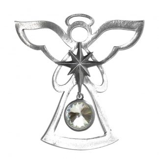 Salisbury Birthstone Angel Ornament April Diamond