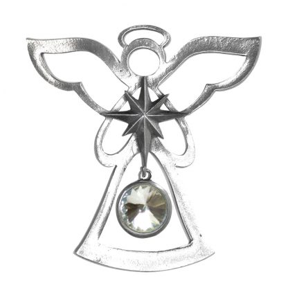 Salisbury Birthstone Angel Ornament April Diamond