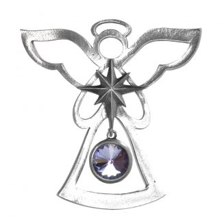 Salisbury Birthstone Angel Ornament June Light Amethyst