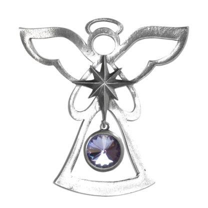 Salisbury Birthstone Angel Ornament June Light Amethyst