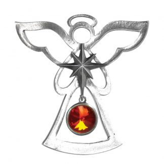 Salisbury Birthstone Angel Ornament July Ruby