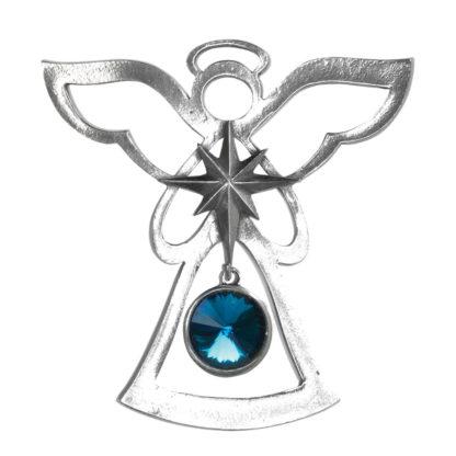 Salisbury Birthstone Angel Ornament December Blue Zircon