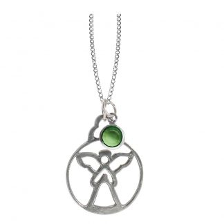 Salisbury Birthstone Angel Necklace August Peridot
