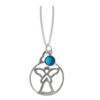 Salisbury Birthstone Angel Necklace December Topaz