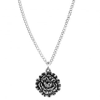 January flower of the month necklace