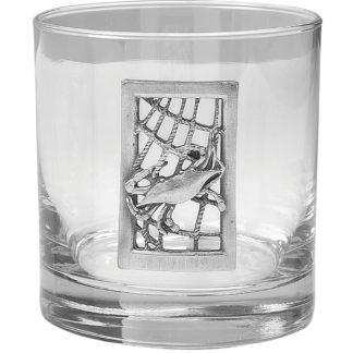 Salisbury Crab Net Old Fashioned Glass