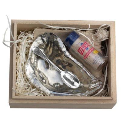 Oyster Salt Cellar, Spoon, & Salt Gift Set
