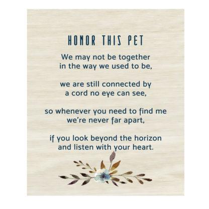 Salisbury Honor This Pet Prayer