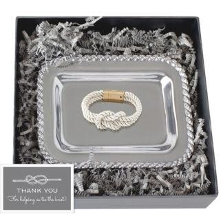 Salisbury Masthead Tray and Knot Bracelet