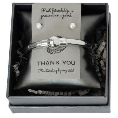 Salisbury Pearl Bracelet and Pearl Studs