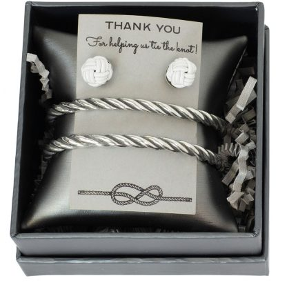 Salisbury Rope Bracelet and Knot Studs