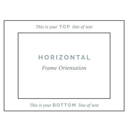 Horizontal Frame Engraving Guide