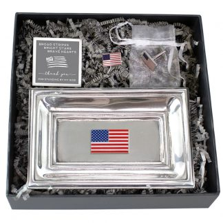 Salisbury American Flag Tray and Cuff Links Set