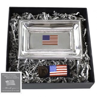 American Flag Tray and Key Fob Set