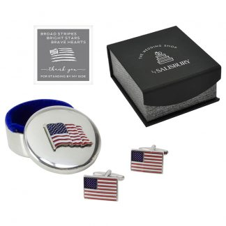 Salisbury American Flag Keepsake Box and Cuff Links Set