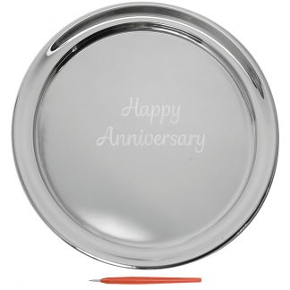 Salisbury Guest Book Tray with Happy Anniversary Large