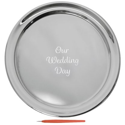 Salisbury Guest Book Tray With Our Wedding Day, Large