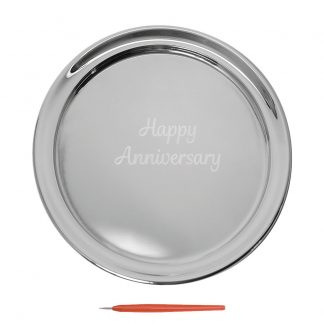 Salisbury Guest Book Tray With Happy Anniversary, Small