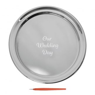 Salisbury Guest Book Tray With Our Wedding Day, Small