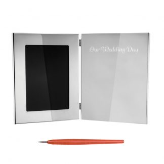 Salisbury Guest Book Frame With Our Wedding Day