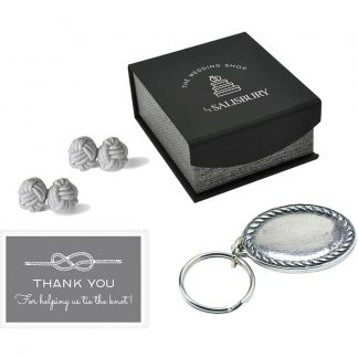 Salisbury Rope Key Ring and Knot Cuff Links Set