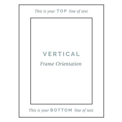 Vertical Frame Engraving Guide