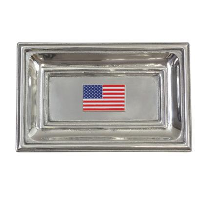 Salisbury American Flag Tray and Cuff Links Set