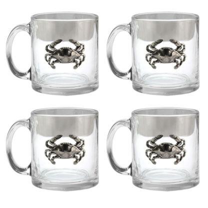 Blue Crab Coffee Mug set of 4
