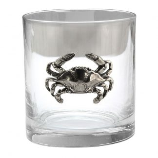 Blue Crab Old Fashioned Glass