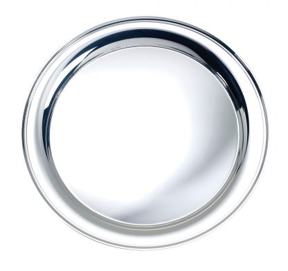 """Silver Serving Tray, 9"""""""