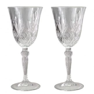 Crystal Wine Glass Set of 2